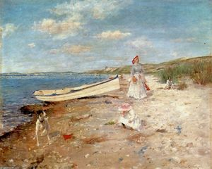 William Merritt Chase - Sunny Day at Shinnecock Bay