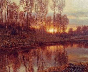 Ivan Fedorovich Choultse - Sunset and River