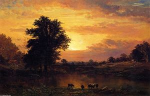 Alfred Thompson Bricher - Sunset in the Catskills
