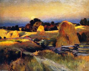 Mathias Joseph Alten - Sunset of the Farm, Saugatuck