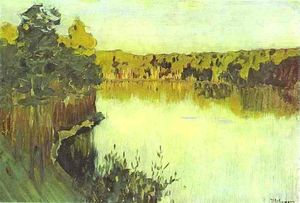 Isaak Ilyich Levitan - Sunset over a Forest Lake. Study