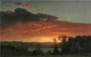 William Hart - Sunset over the Lake