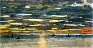 Claude Monet - Sunset over the Sea