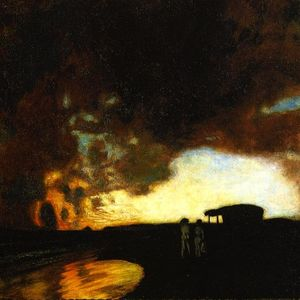 Franz Von Stuck - Sunset over Sea