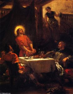 Eugène Delacroix - The Supper at Emmaus (also known as The Pilgrims of Emmaus)
