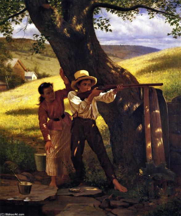 A Sure Thing, 1876 by John George Brown (1831-1913, United Kingdom) | WahooArt.com