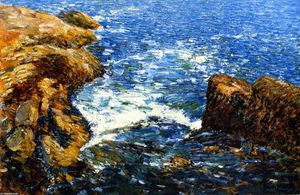 Frederick Childe Hassam - Surf and Rocks