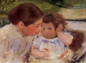 Mary Stevenson Cassatt - Susan Comforting the Baby (no.1)