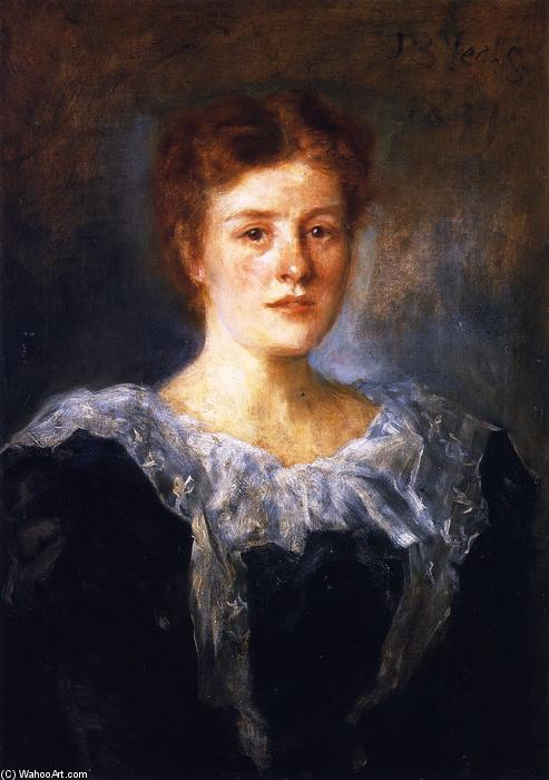 Susan L. Mitchell, 1899 by John Butler Yeats (1871-1957, United Kingdom) | Museum Quality Reproductions | WahooArt.com