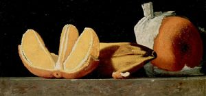 John Frederick Peto - Sustenance, a Still Life with Oranges and a Banana
