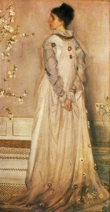Symphony in Flesh Colour and Pink: Portrait of Mrs. Frances Leyland, Oil On Canvas by James Abbott Mcneill Whistler (1834-1903, United States)