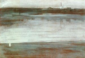 James Abbott Mcneill Whistler - Symphony in Grey: Early Morning, Thames
