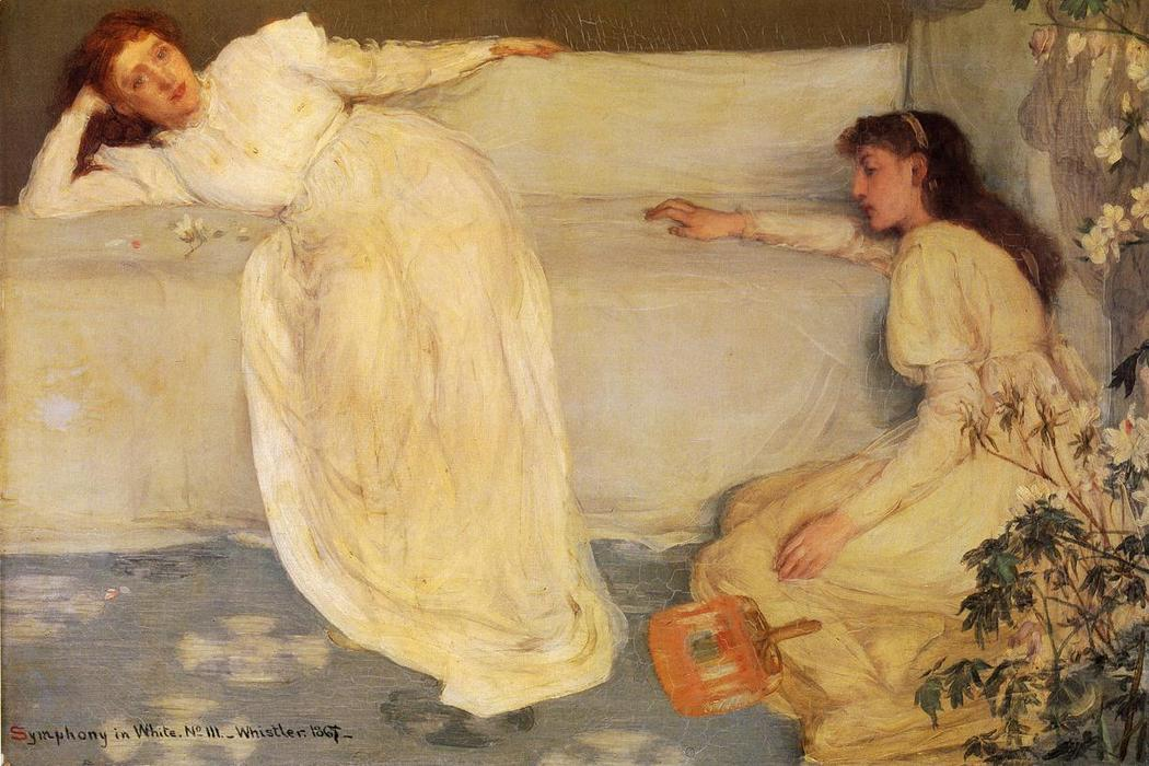 Symphony in White, No. 3, Oil On Canvas by James Abbott Mcneill Whistler (1834-1903, United States)