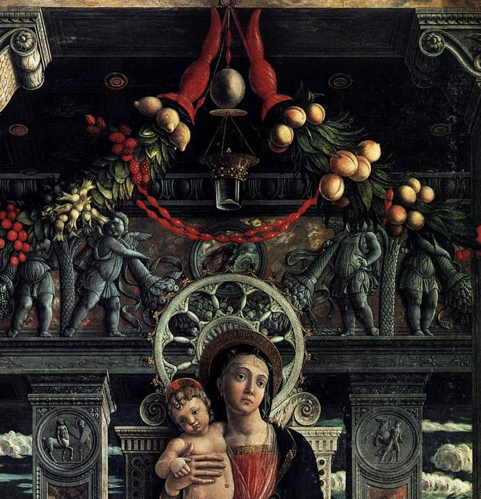 San Zeno Polyptych (detail), 1457 by Andrea Mantegna (1431-1506, Italy) | Art Reproduction | WahooArt.com