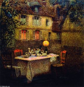 Henri Eugène Augustin Le Sidaner - The Table, Gerberoy