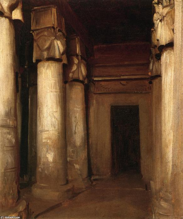 Temple of Denderah, Oil On Canvas by John Singer Sargent  (order Fine Art Poster on canvas John Singer Sargent)
