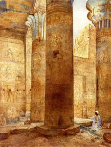 Order Art Reproductions | Temple of Philae, Nubia, 1893 by Henry Roderick Newman (1833-1918, United States) | WahooArt.com