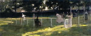 John Lavery - The Tennis Party (study)