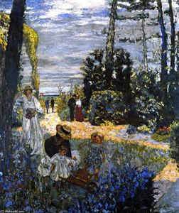 Jean Edouard Vuillard - The Terrace at Vasouy: The Garden