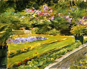 Max Liebermann - The Terrace in the Wannsee Garden toward the Northwest