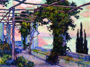 Theo Van Rysselberghe - Terrace [of Hotel Palumbo] at Ravello