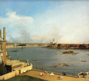 Giovanni Antonio Canal (Canaletto) - The Thames and the City of London from Richmond House
