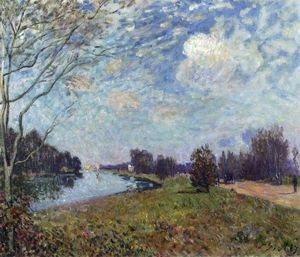 Alfred Sisley - The Thames at Hampton Court, East Molesey