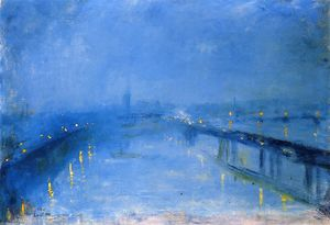 Lesser Ury - Thames Bridges in the Twilight (also known as London Bridge)