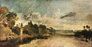 William Turner - The Thames near Walton Bridges