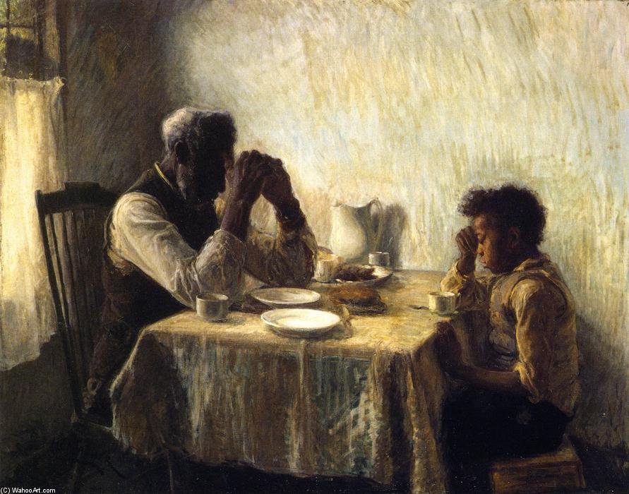 The Thankful Poor, 1894 by Henry Ossawa Tanner (1859-1937, United States) | Famous Paintings Reproductions | WahooArt.com