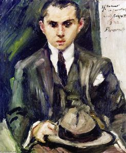 Lovis Corinth (Franz Heinrich Louis) - Thomas with His Hat in His Hand