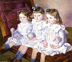 Theo Van Rysselberghe - Three Daughters of Thomas Braun
