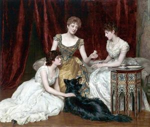 John Maler Collier - The Three Daughters of William Reed