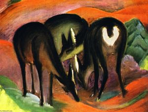 Franz Marc - Three Deer