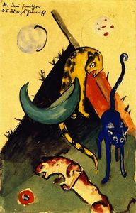 Franz Marc - The Three Panthers of King Jussuff