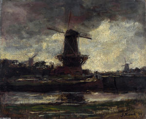 Jacob Henricus Maris - Three Windmills