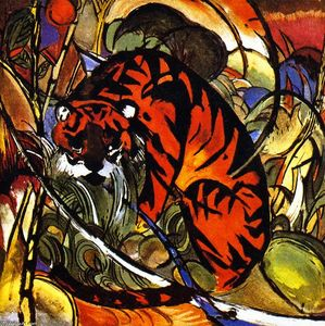 Franz Marc - Tiger in Jungle