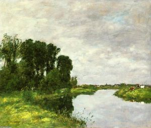 Eugène Louis Boudin - The Toques at Saint-Arnoult
