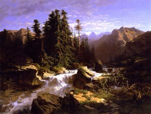 Alexandre Calame - Torrent in the Alps