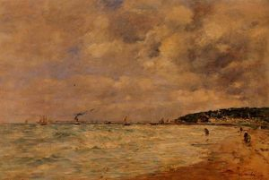 Eugène Louis Boudin - The Tourgeville Shores