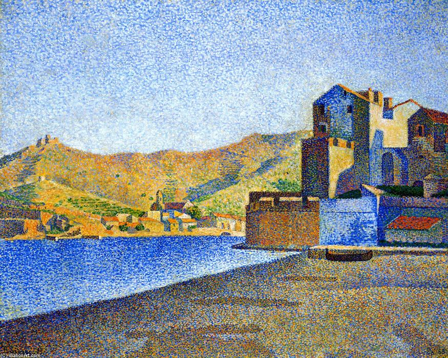 The Town Beach, Collioure, Opus 165, 1887 by Paul Signac (1863-1935, France) | Art Reproduction | WahooArt.com