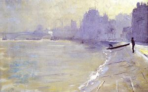 Thomas William Roberts - The Towpath, Putney