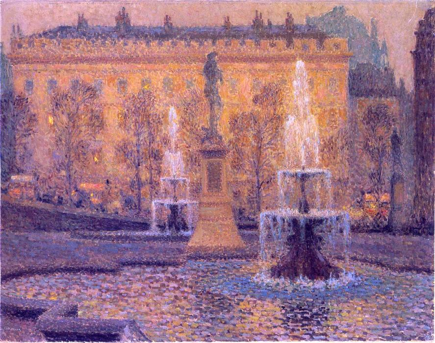Trafalgar Square, Oil On Canvas by Henri Eugène Augustin Le Sidaner (1862-1939, Mauritius)