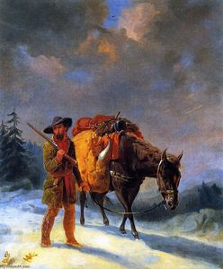 William Tylee Ranney - Trapper Crossing the Mountains