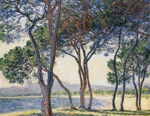 Claude Monet - Trees by the Seashore at Antibes