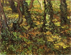 Vincent Van Gogh - Tree Trunks with Ivy