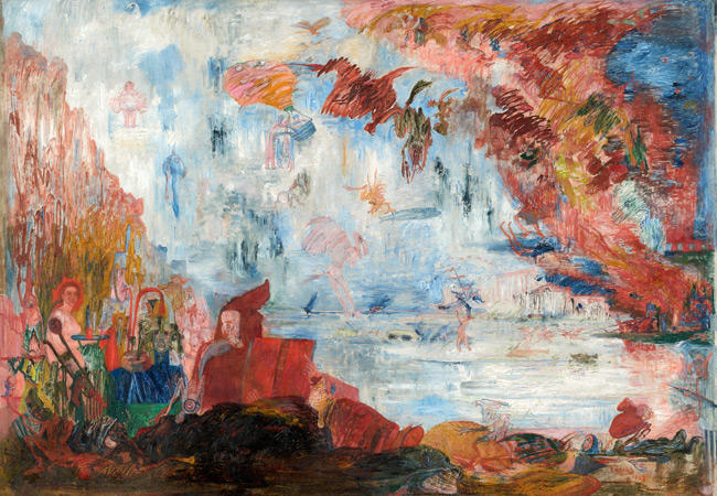 Tribulations of Saint Anthony, Oil On Canvas by James Ensor (1860-1949, Belgium)