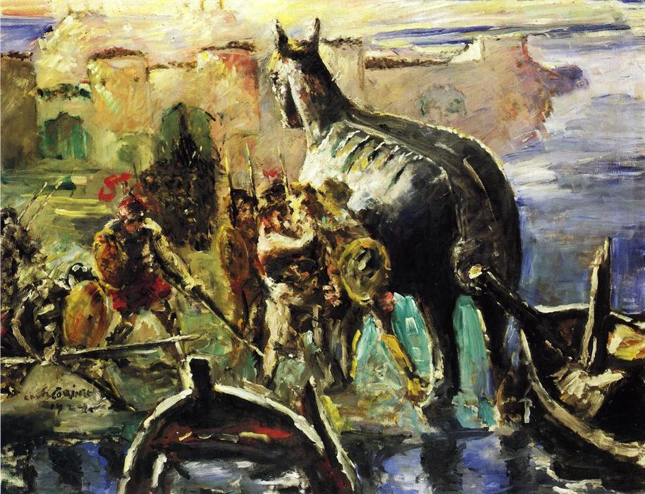 The Trojan Horse, Oil On Canvas by Lovis Corinth (Franz Heinrich Louis) (1858-1925, Netherlands)