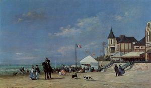 Eugène Louis Boudin - The Trouville Beach