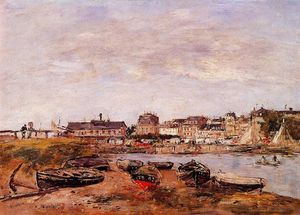 Eugène Louis Boudin - Trouville, the View from Deauville on Market Day